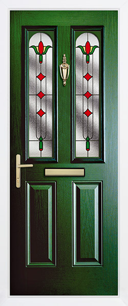 Stained Glass Surrey Green Door